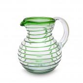 Karaffe Bola Spirale grün | mundgeblasenes Glas