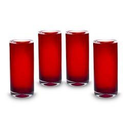 Mundgeblasenes Glas Rubi