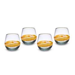 Gläser 4er Set Ringe | Mundgeblasenes Glas