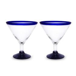 Martini Gläser 2er Set | Mundgeblasenes Glas