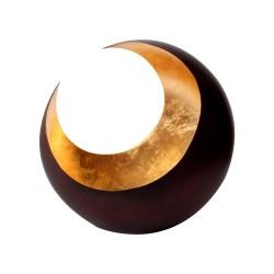 Portavelas | Luna bronceada / dorada 14,5cm.