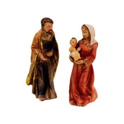 Krippenfiguren Set | Heilige Familie 8cm