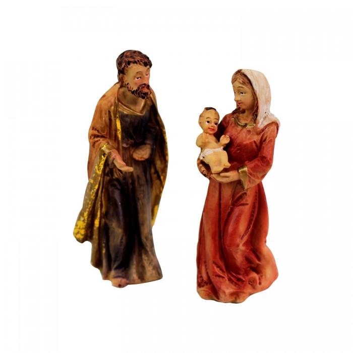 Krippenfiguren Set   Heilige Familie 8cm