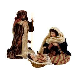Krippenfiguren Set mit Kleidung | Heilige Familie 10 cm