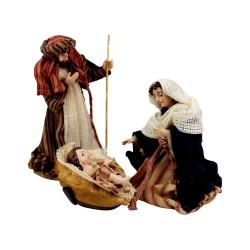 Krippenfiguren Set mit Kleidung | Heilige Familie 13 cm