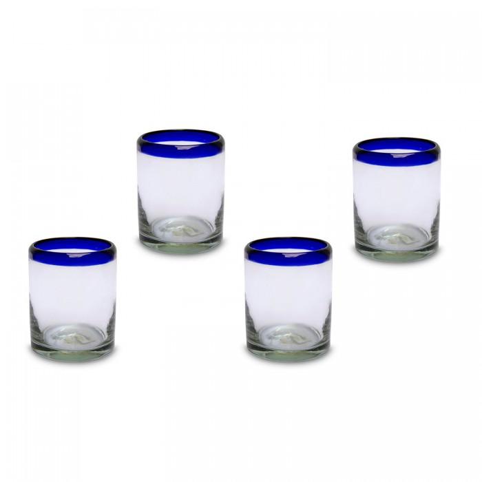 Gläser klein 4er Set   Mundgeblasenes Glas