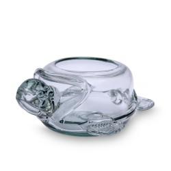Blumenschale Schildkröte | Mundgeblasenes Glas