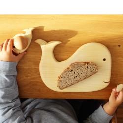 Frühstücksbrett Wal mit Walkind