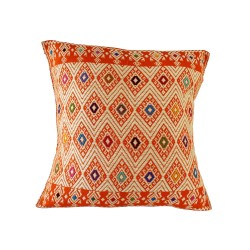 Sofakissen Tazajala orange und beige | Ethno Kissen 50x50