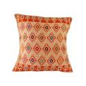 Handgewebtes Sofakissen Tazajala orange und beige | Ethno Kissen