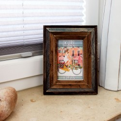 Photoframe Wood Grey/Natural 19x24x2,1cm