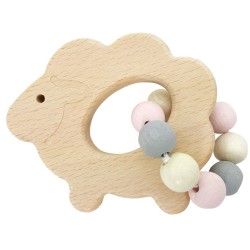Greifrassel Schaf aus Holz, Greifling