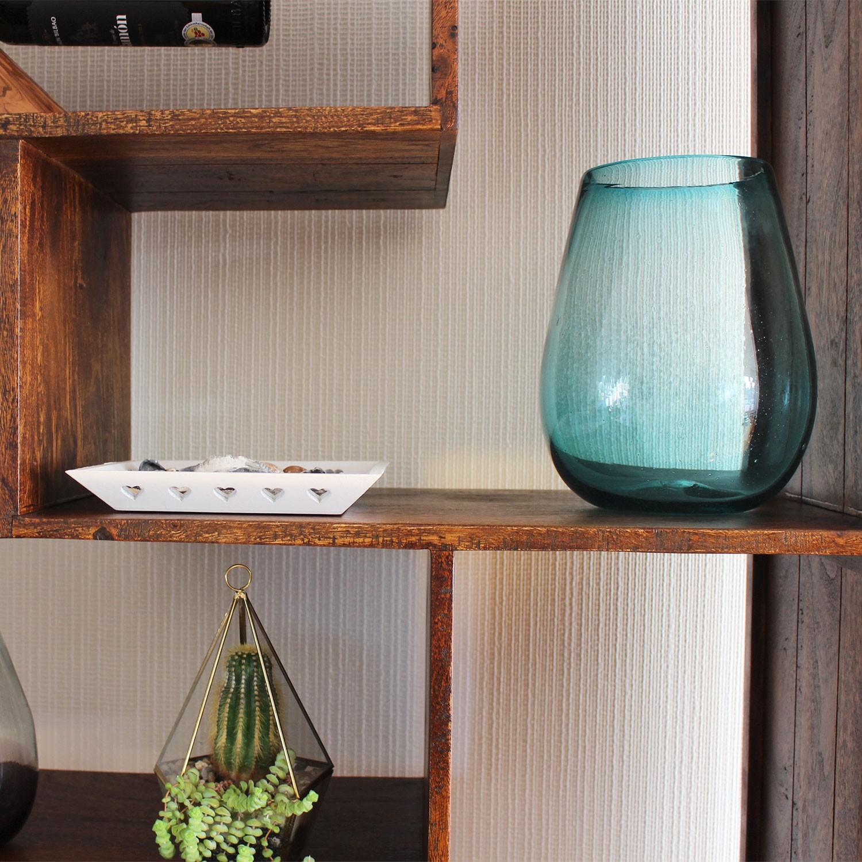 Glas-Recycling Blumenvase 24 cm Confetti bunt mundgeblasene Vase aus Mexiko Glasmanufaktur Mitienda Glas Vase
