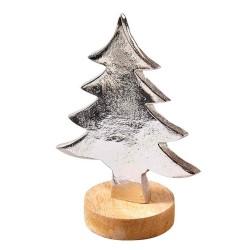 Deko Tanne mit Holzsockel 13,5 cm, Weihnachtsdeko