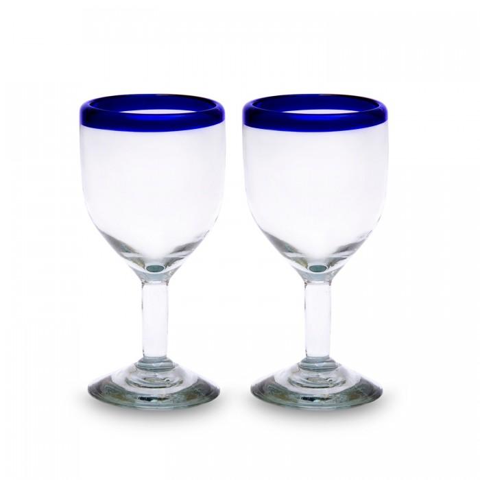 Weinglas 2er Set Filo Azul