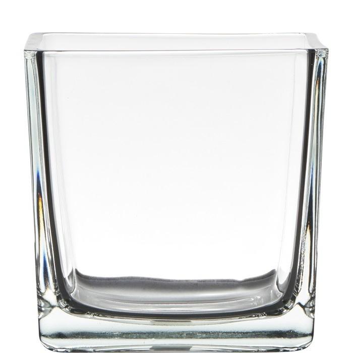 Blumentopf Würfel aus Glas 14cm