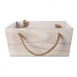 Holzkiste Set mit Henkel rechteckig Deko