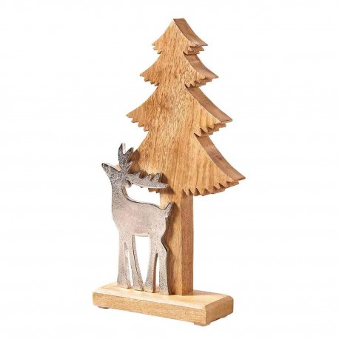 Hirsch & Tanne Weihnachtsdeko 34cm