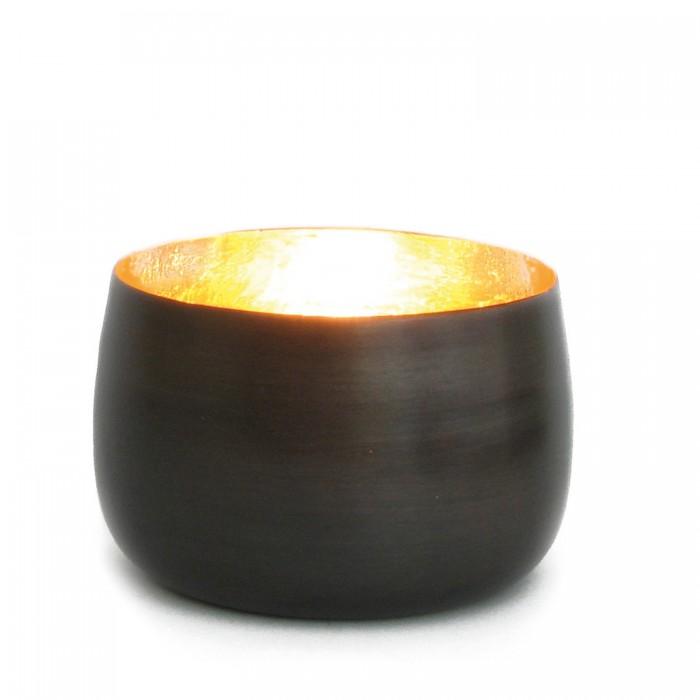 Teelichthalter Cup bronzen/golden