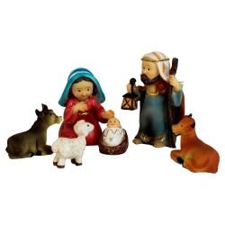 Krippenfiguren Set mit Kleidung | Heilige Familie und 3 Könige