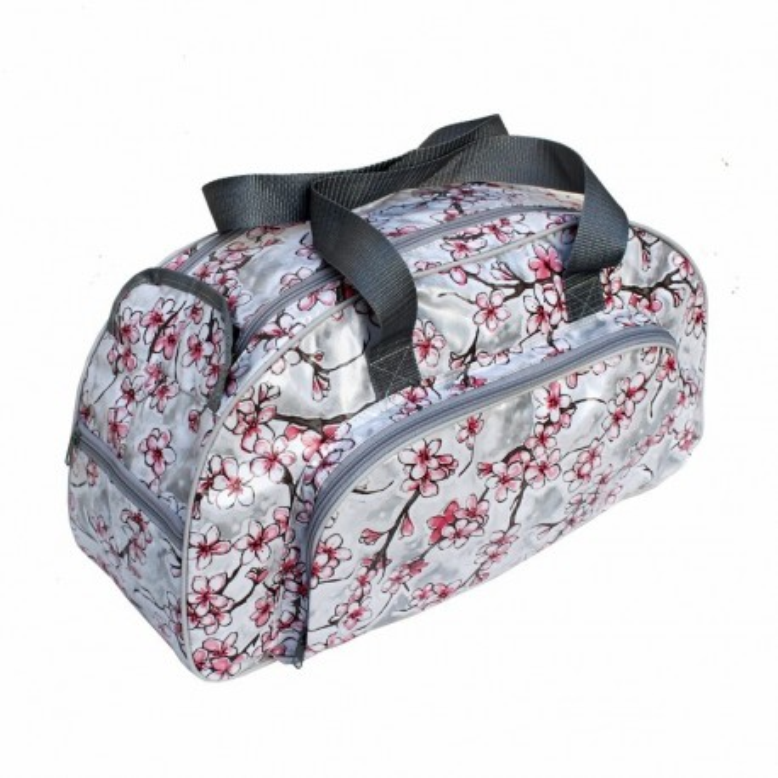 Umhängetasche Hanami silber / Reisetasche für Frauen