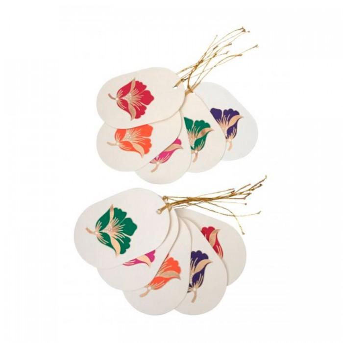 Geschekanhänger Blume aus handgeschöpftem Papier
