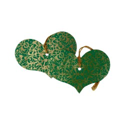 Geschenkanhänger Herz aus handgeschöpftem Papier