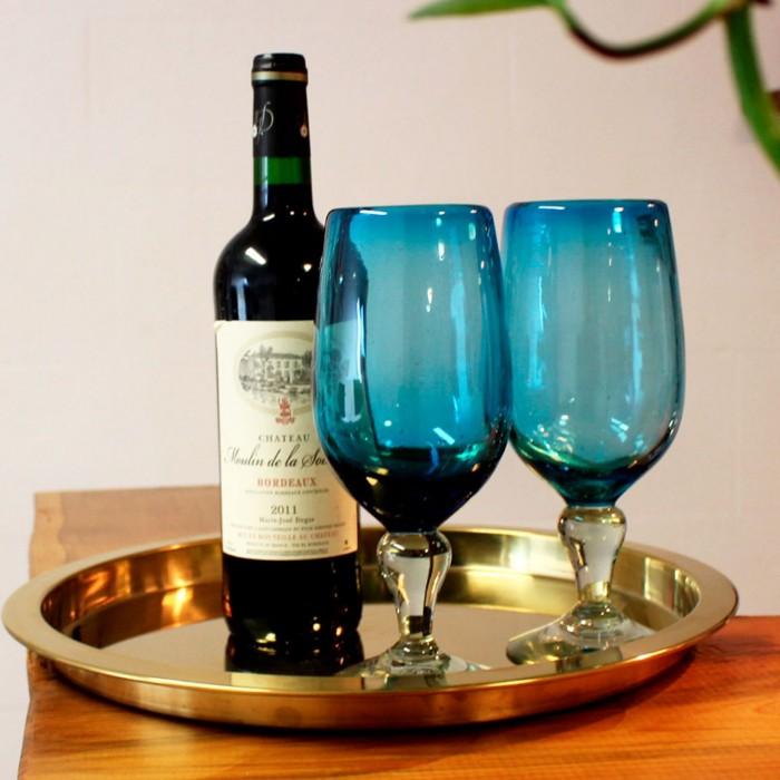 Weinglas 2er Set Aqua Modern   Cocktailglas
