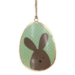 Dekohänger Ostern, Hase auf Ei