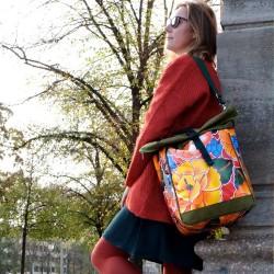 """Bicycle bag """"Tehuana"""" red"""