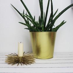 Kerzenhalter gold 12cm modern