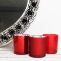 Teelichthalter 3er Set rot