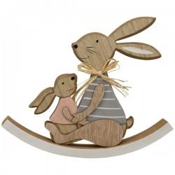 Hasen aus Holz, Osterdeko