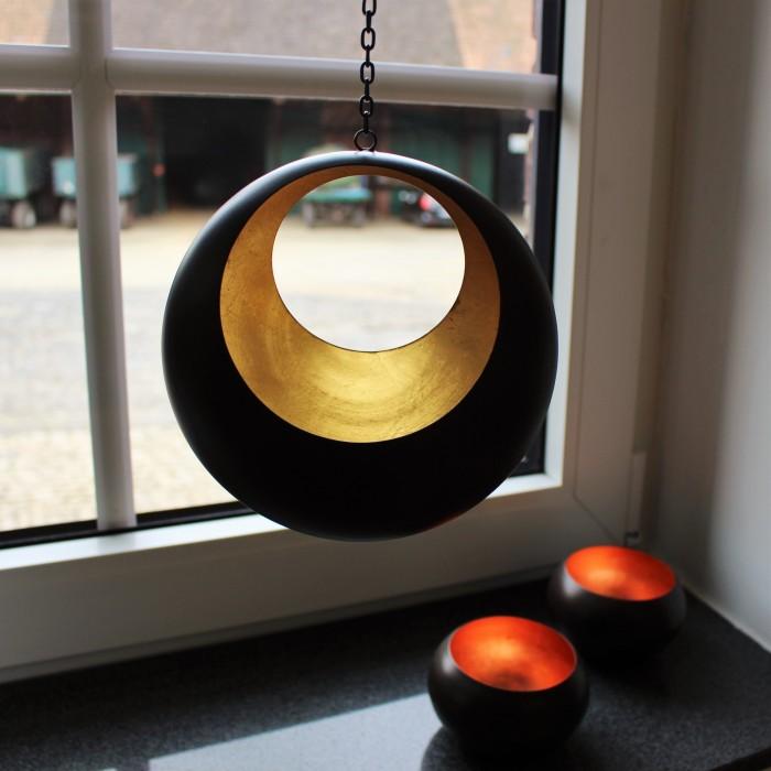 Teelichthalter | Teelichtschale Circule bronzen/golden