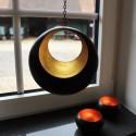 Teelichthalter, Teelicht Hänger Circule bronzen/golden
