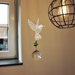 """Windspiel """"Kolibri"""" mit Kristall"""