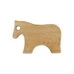 Frühstücksbrettchen mit Tiermotiv Pferd, Holzbrettchen