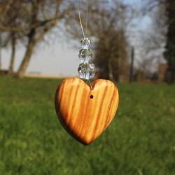 Fensterdeko Herz mit 3 Perlen
