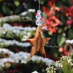 Fensterdeko Stern mit 3 Perlen, Mobile