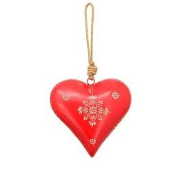 Dekohänger Herz (rot) aus Metall
