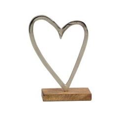 Herzaufsteller mit Holzfuß