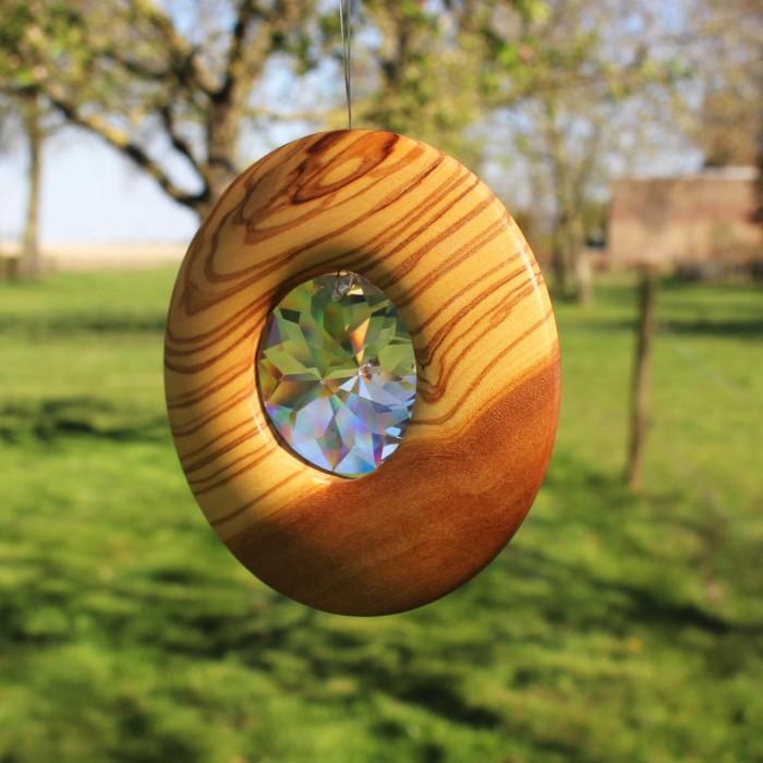 Fensetrdeko aus Holz   Fenster Deko Kristall