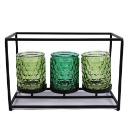 Teelichthalter mit drei Gläsern