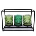 Teelichthalter drei Gläser