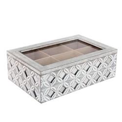 Tee Box mit Spiegeln grau