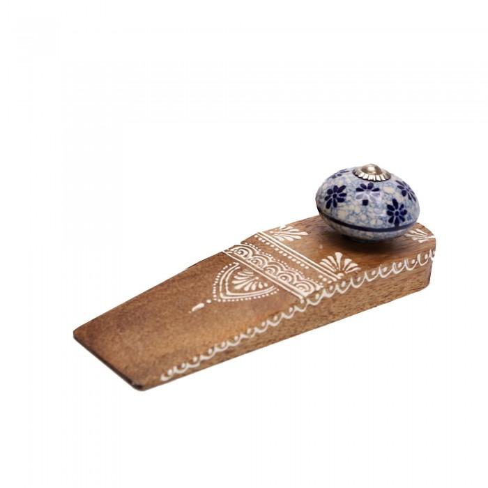 Türstopper aus Holz mit Keramik