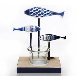 Kerzenhalter 3 Fische