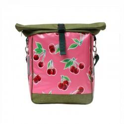 Fahrradtasche, Einzeltasche Cerezas pink