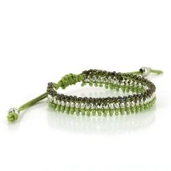 Perlenarmband grün