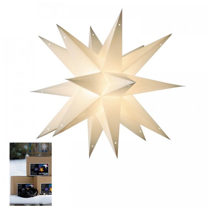 Papiersterne Weihnachtsbeleuchtung.Weihnachtsstern Weiß Zur Außenbeleuchtung Adventsstern